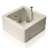 Наружная монтажная коробка для терморегулятора (белая)